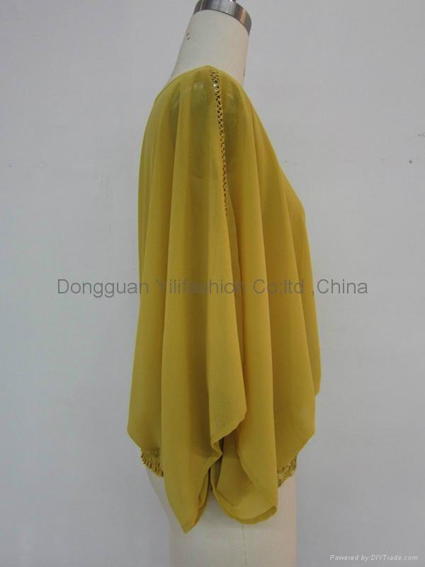 Ladies new design fashion  baggy blouse 2