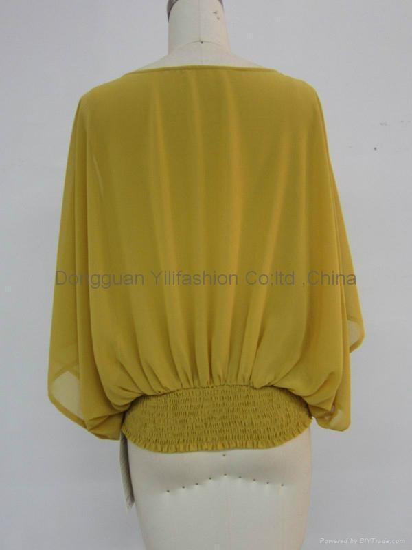 Ladies new design fashion  baggy blouse 3