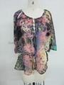 hotselling ladies fashion print tops