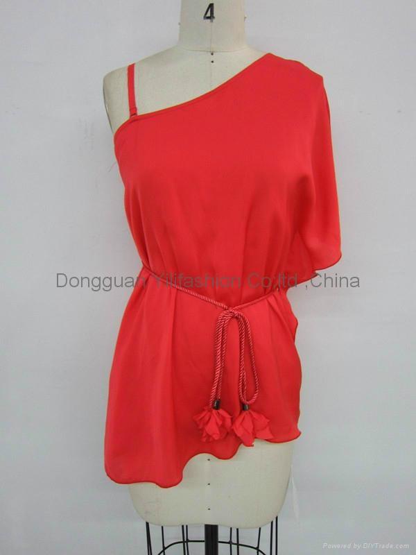 fashion ladies sexy elegant red tops 1