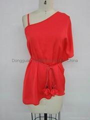 fashion ladies sexy elegant red tops