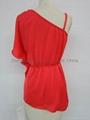 fashion ladies sexy elegant red tops 2