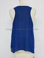 lady fashion casual  royal blue tank tops 2