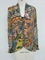 lady fashion casual print shirt