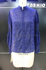 beautiful ladies fashion lace shirt