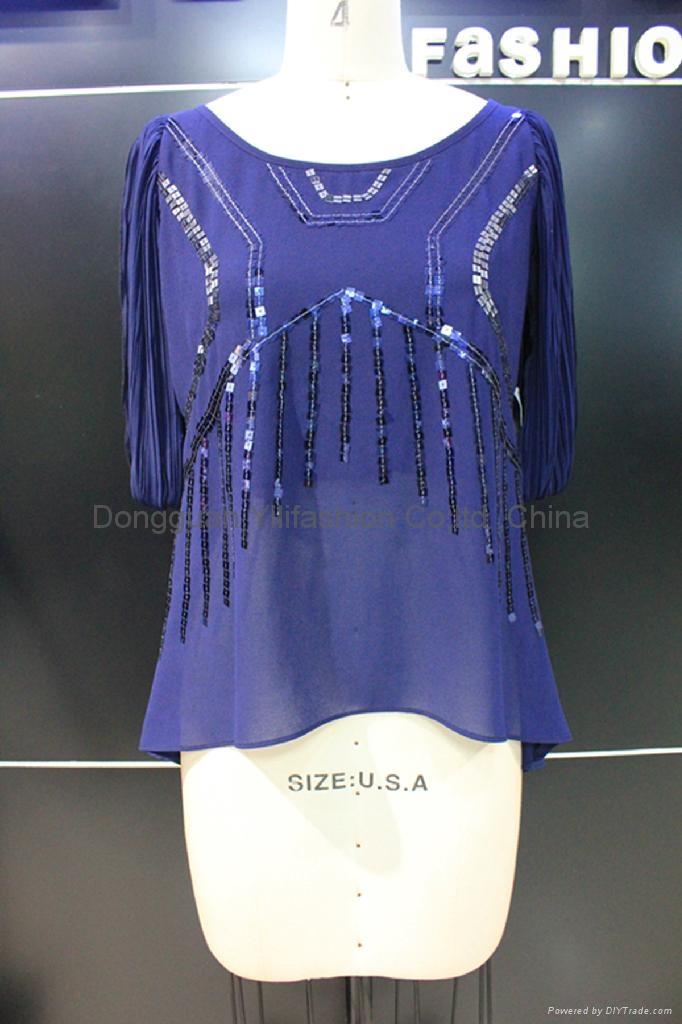beautiful ladies fashion ruffled  blouse 1