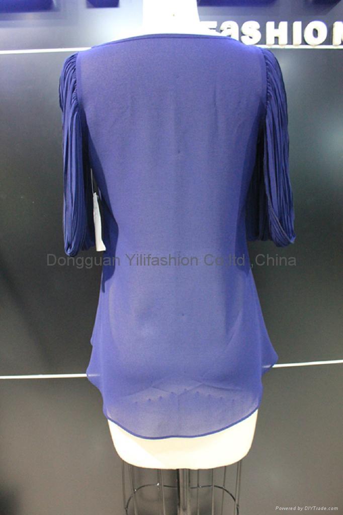 beautiful ladies fashion ruffled  blouse 3