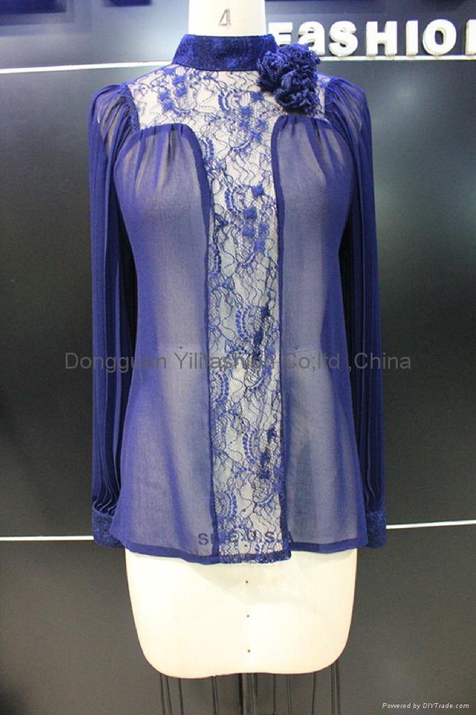 beautiful ladies fashion lace   blouse 1
