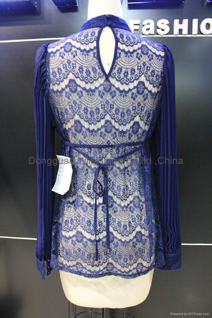 beautiful ladies fashion lace   blouse 2