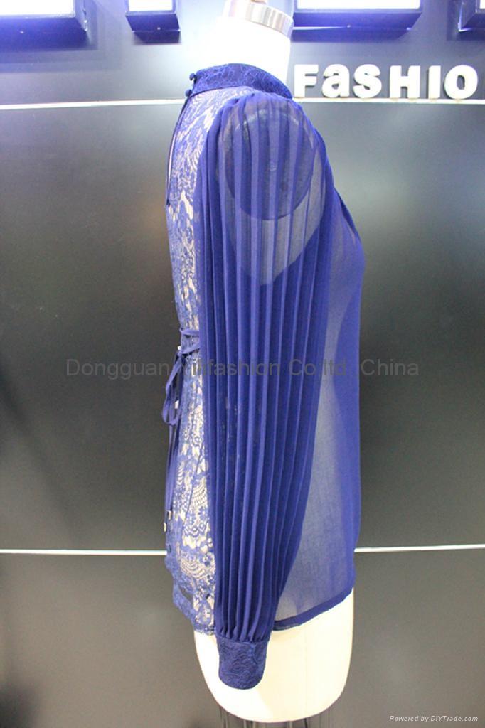 beautiful ladies fashion lace   blouse 3