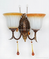 9803/2W Antique glass wall light