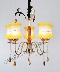 8035/5 European antique glass chandelier