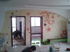 湖州数码彩砂墙画