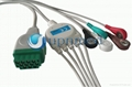 GE-Marquette ecg cable with leadwires