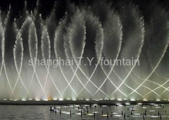 Large scale lake musical spouting fountain and large scale dry fountain project
