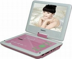 "new 9""portable DVD player with all function"