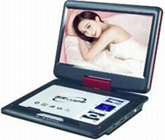 "new 12"" portable DVD player with all function"