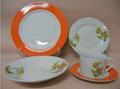 20 pcs porcelain round shape dinnerware set 1