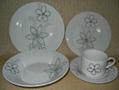 20 pcs porcelain round shape dinnerware