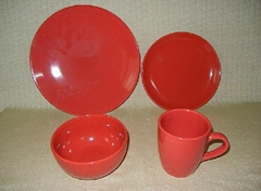 20 pcs porcelain round shape color glazed dinnerware set