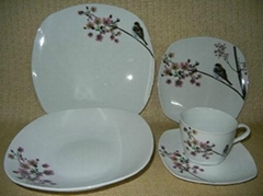 20 pcs porcelain square dinnerware set
