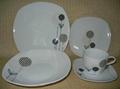 20 pcs porcelain square dinnerware set