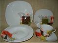 20pcs square porcelain dinner set
