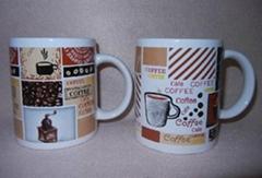 11OZ white porcelain decal mug
