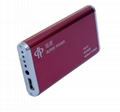 High capacity 6000mAh portable powerbank