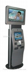 Touch Screen Ticketing, Card printing Lobby Kiosk / Advertising Display
