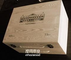 六支裝紅酒木箱