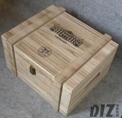 六支烤色桐木箱