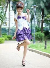 可爱蝴蝶结DJ公主服公主短裙