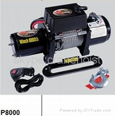 China 8000lb 6000lb electric winch  12 Volt car winches