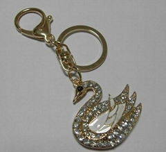 镶钻天鹅-钥匙扣