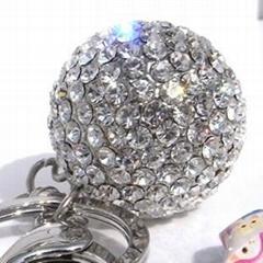 镶钻圆球-钥匙扣