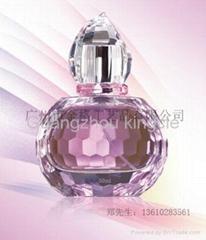 Polishing glass perfume bottle