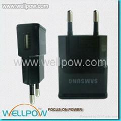 欧规Mini USB 旅行充电器