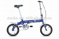 "14"" single speed Aluminium folding bikes bicycles in china/BA412"