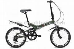 "20"" aluminium folding bikes bicycles with suspension frame and fork in china"