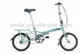 "Single speed 16""aluminium folding bikes"
