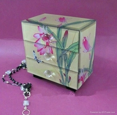 Antique design glass jewellry box