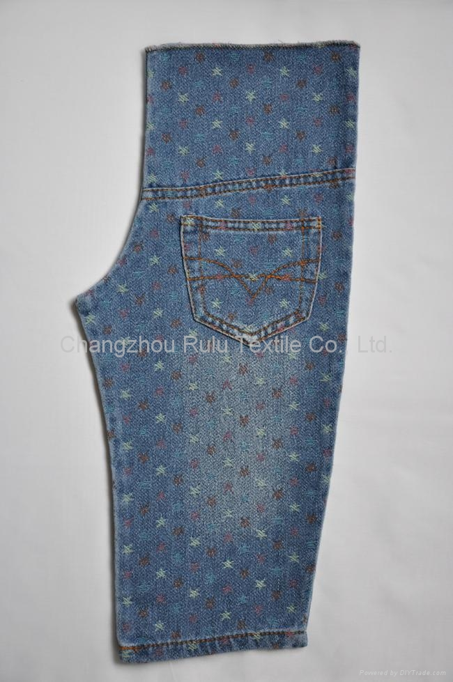 fashion jacquard denim fabric 2