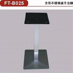 供应方形不锈钢桌脚 不锈钢餐桌底座/餐台台脚