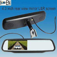 4.3 Inch Monitor Car Rearview Mirror Radar Detector KS0443