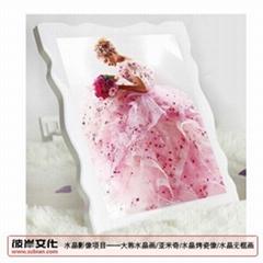 水晶烤瓷画