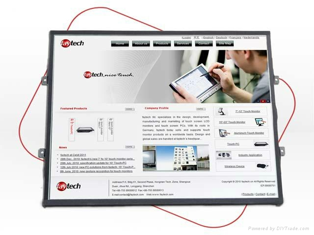 """19"""" embeded OpenFrame Touch Screen PC 1"""