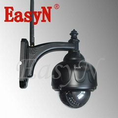 EasyN Waterproof PTZ ip camera with 3 times optics zoom wireless wifi