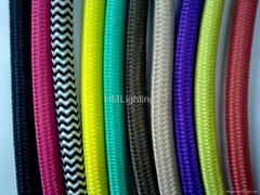 HM colorful insulated fiberglass braided wire