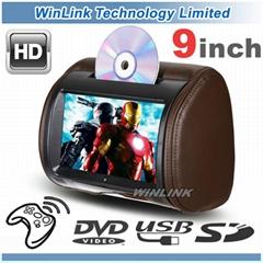 "9"" Digital Touch Screen In-Car Headrest DVD Player"